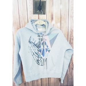 O'Neill Gray Eagle Feather Hoodie Juniors size L